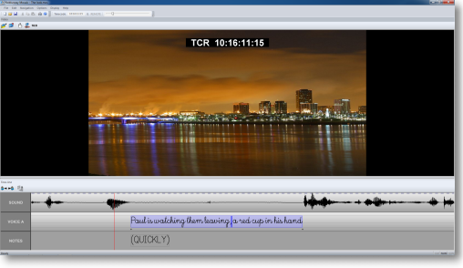 User interface of audio-description module of Noblurway Mosaic